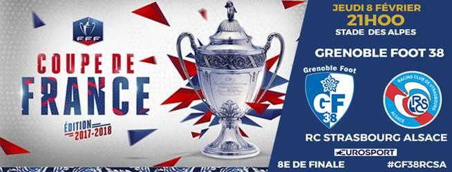 Coupe de France - GF38 - RC Strasbourg